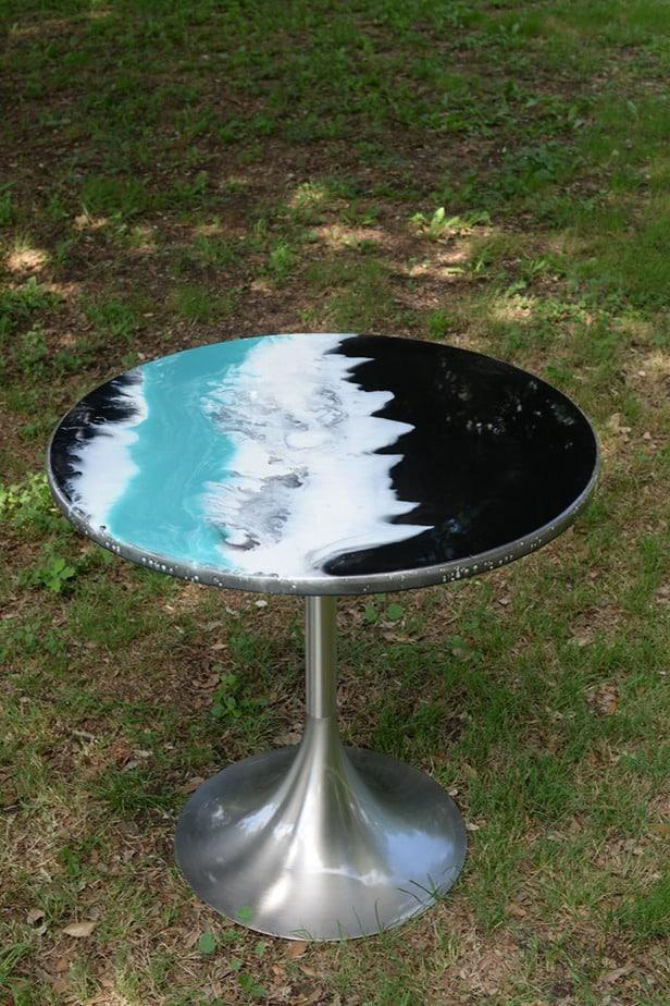 Création table bistro en résine et epoxy