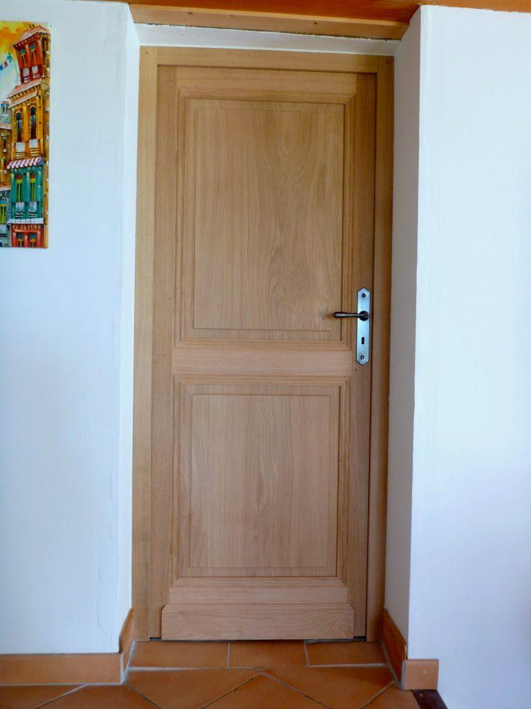 Porte intérieur en chêne, huilé
