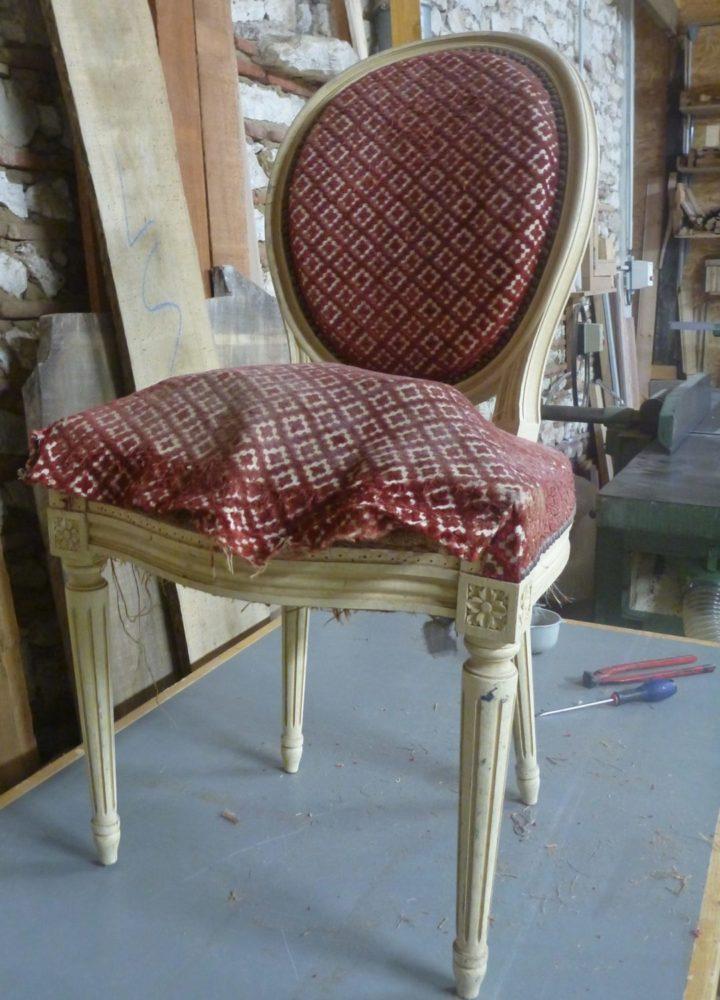 Restauration d'une chaise - Dordogne Bergerac