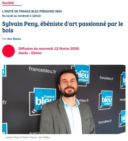 Invité du jour chez France Bleu Périgord