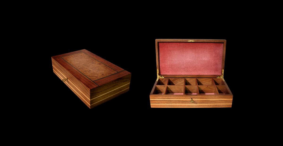création d'une boîte à bijoux travail d'un artisan menuisier ébéniste